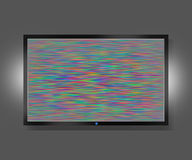 TV screen with static noise Stock Photo