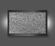TV screen with static noise Stock Photos