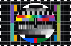 Tv screen test Royalty Free Stock Images