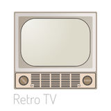 TV screen vintage monitor template electronic device technology digital size diagonal display and video retro plasma Royalty Free Stock Images