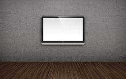 TV screen on wall Stock Photo