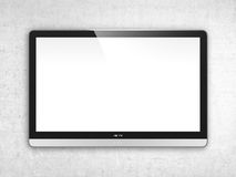 TV screen on wall Royalty Free Stock Image