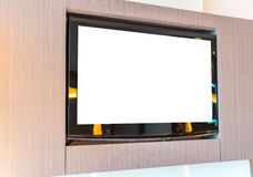 TV screen on wall . Royalty Free Stock Images