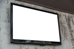 TV screen on wall Stock Photography