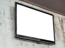 TV screen on wall Stock Image