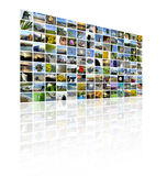 TV Screens. A series of images to make up a TV Wall style collage Royalty Free Stock Photo