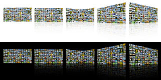 TV Screens. A series of images to make up a TV Wall style collage Stock Image