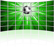 Tv screens with football image Royalty Free Stock Photography