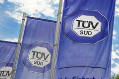TÜV Süd flags Royalty Free Stock Photo