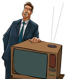 The tv sells man Royalty Free Stock Image