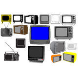 Tv set Royalty Free Stock Photo