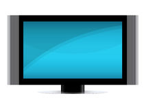 TV Set. Modern Flat screen TV isolated over a white background. Vector EPS file is available Stock Photography