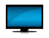 TV Set. Modern Flat screen TV isolated over a white background. Vector EPS file is available Royalty Free Stock Image