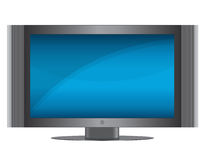 TV Set. Modern Flat screen TV isolated over a white background. Vector EPS file is available Royalty Free Stock Images