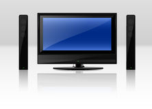 TV Set. Modern LCD TV set isolated over a white background. Vector EPS file is available vector illustration