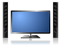 TV set with audio system Royalty Free Stock Photos