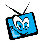 Tv set cartoon Royalty Free Stock Photography