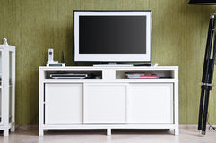 TV-set in home interior Stock Images
