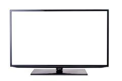 TV set, isolated on white background. Modern blank flat screen TV set, isolated on white background Royalty Free Stock Image