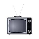 Tv set retro old vintage device  illustration Stock Photos
