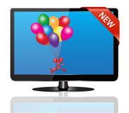 TV set on sale Royalty Free Stock Image