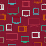 TV set, seamless pattern Royalty Free Stock Image