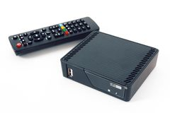 TV set top box with android OS stock photos