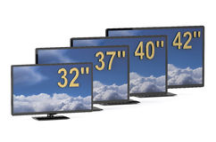 TV sets with different diagonal Royalty Free Stock Photo