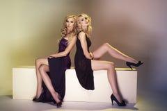 Två sexiga kvinnor Royaltyfri Fotografi