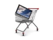 Tv shopping stock illustration