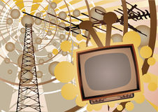 TV show. Illustration vector of old funky TV stock illustration