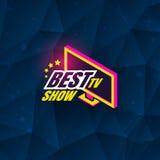 Tv show logo. Template design. Vector illustration Stock Photos