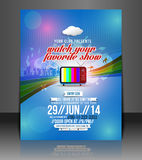 Tv show Party Flyer Stock Photos