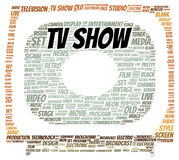 TV show word cloud shape. Concept Royalty Free Stock Photo