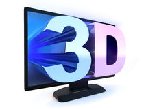 TV and sign 3d Stock Photo