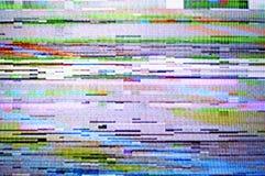 TV Signal. Broken TV signal close-up view Stock Photo