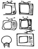 Tv siluet Stock Photos
