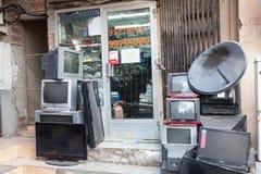 TV sklep w Nizwa, Oman Obrazy Stock
