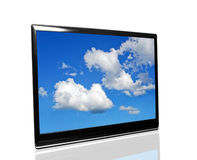 Tv with sky Royalty Free Stock Photos