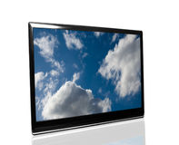 Tv with sky Stock Photography