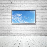 TV with sky Royalty Free Stock Images
