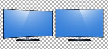 TV - slimme TV 4k het ultrahd-scherm, leidde TV geïsoleerde transparancyachtergrond Stock Illustratie