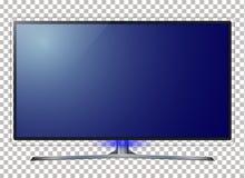 TV - slimme TV 4k het ultrahd-scherm, leidde 4k TV geïsoleerde witte achtergrond Royalty-vrije Stock Afbeeldingen