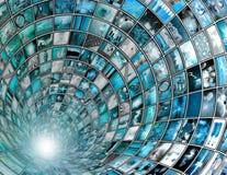 TV-sändningtunnel Royaltyfri Foto