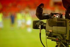 TV-sändningTVkamera Royaltyfri Fotografi