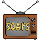 TV Soaps. An illustration of a television Stock Image