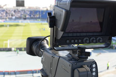 TV at the soccer Stock Images