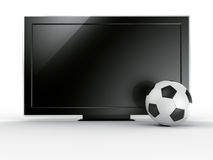 TV with soccerball Stock Photo