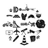 TV software icons set, simple style. TV software icons set. Simple set of 25 tv software vector icons for web isolated on white background Stock Photo