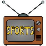 TV Sports. An illustration of a television Royalty Free Stock Photography